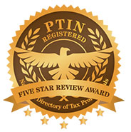 PTIN 5 Star Review Award Recipient